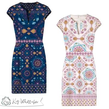 Boho Tile dress mockups
