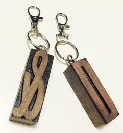 Craft fair keyrings